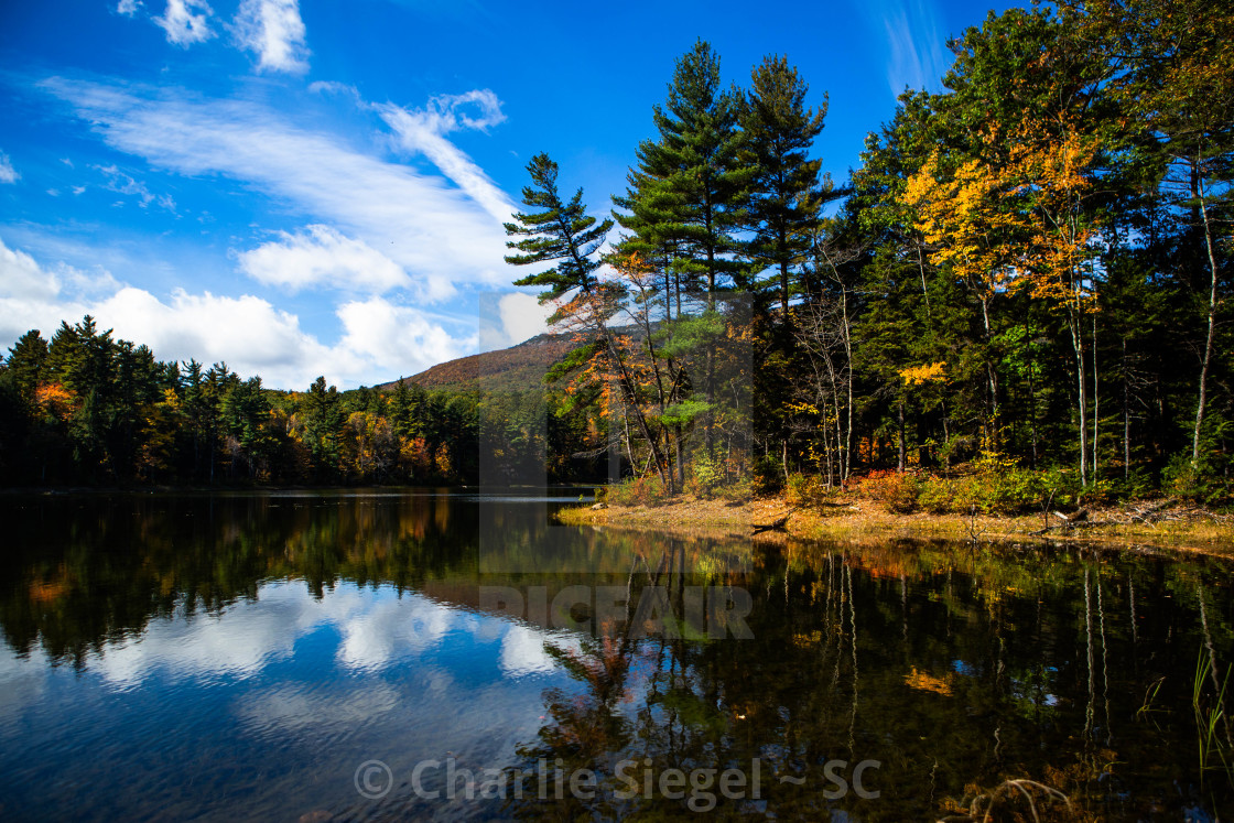 """Gilson Pond in New Hampshire, USA"" stock image"