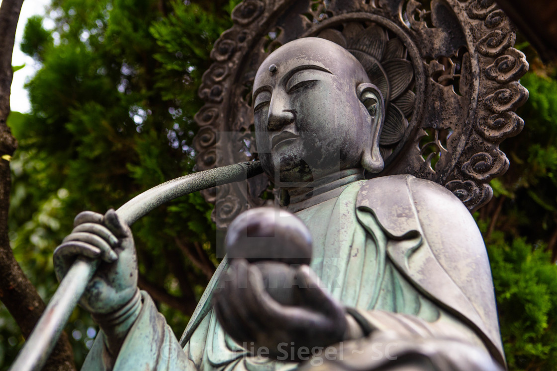 """Japanese Buddha Statue at Sensoji"" stock image"
