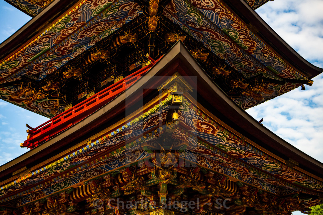 """Three Storied Pagoda in Naritasan Temple, Japan"" stock image"