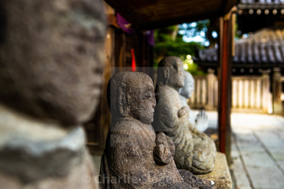 """Antique Buddha Statues in Naritasan Shinsoji Temple, Japan"" stock image"