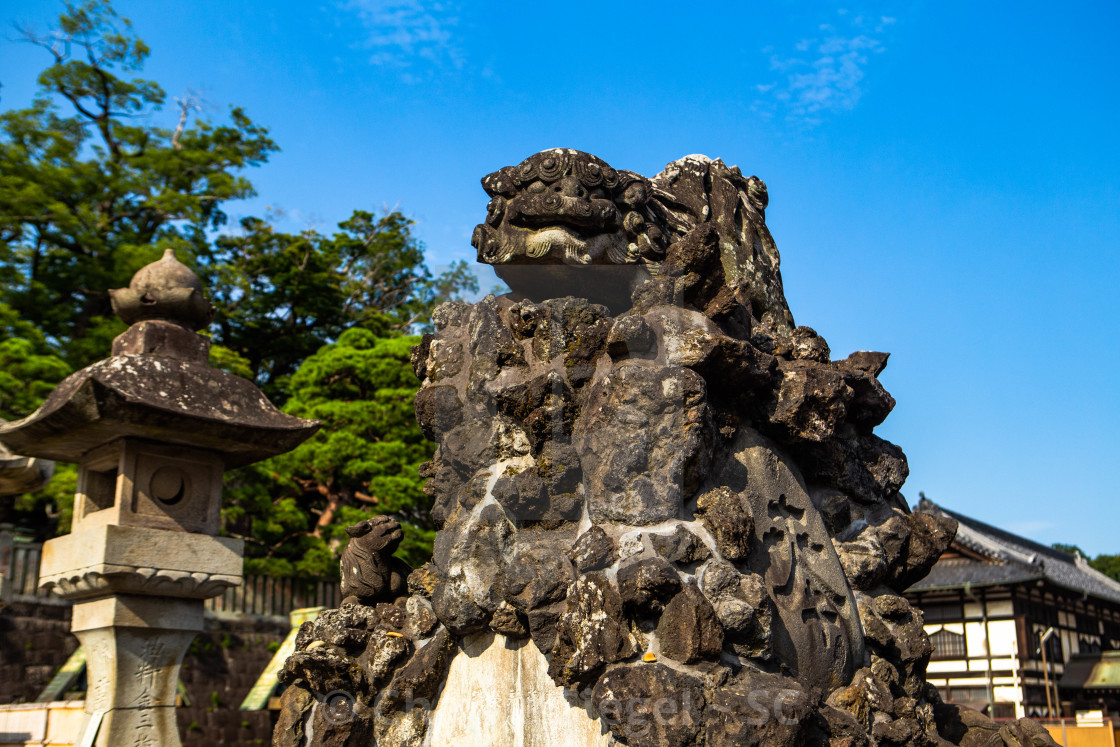 """Japanese Statue of Komainu"" stock image"