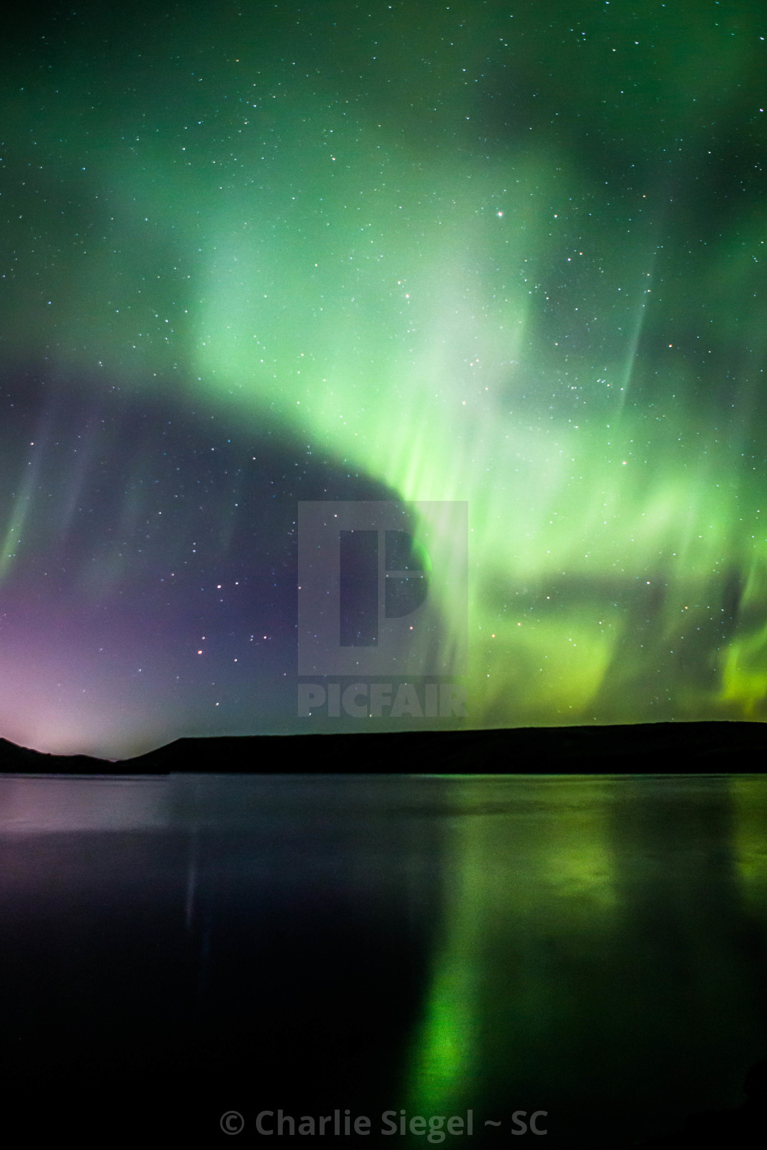 """Northern Lights Forming into a Corona, Part 1"" stock image"