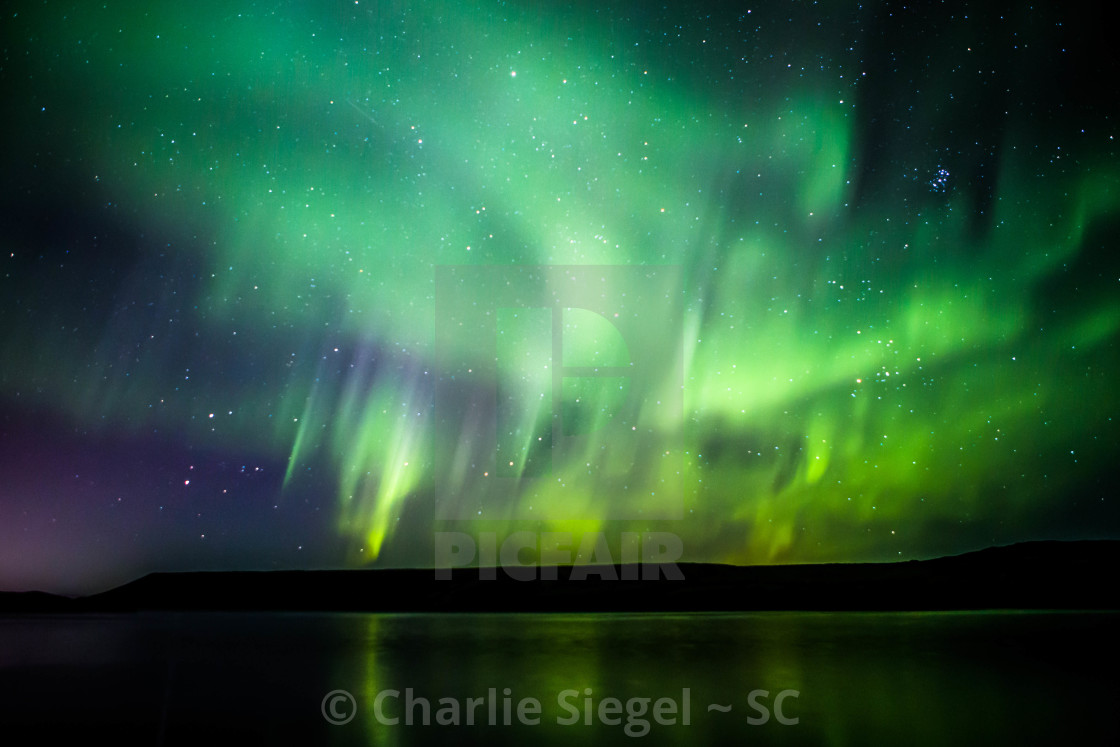 """Northern Lights Forming into a Corona, Part 5"" stock image"