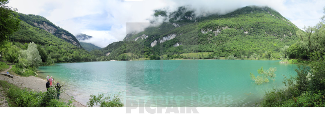 """Lake Tenno, Italy"" stock image"