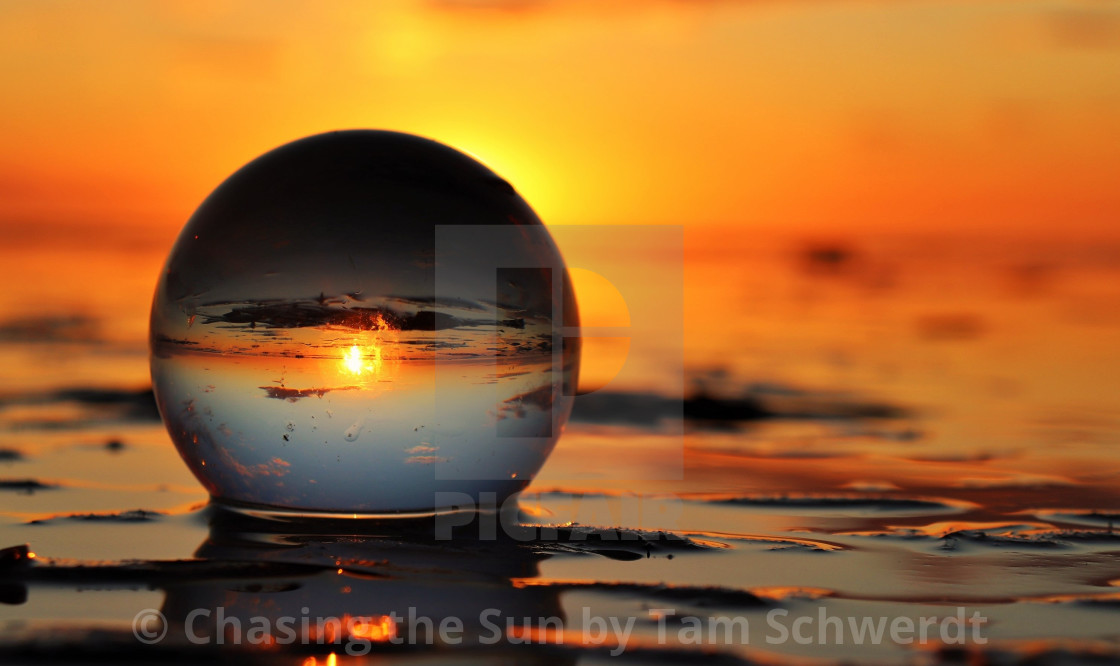 """Crystal Sunset"" stock image"