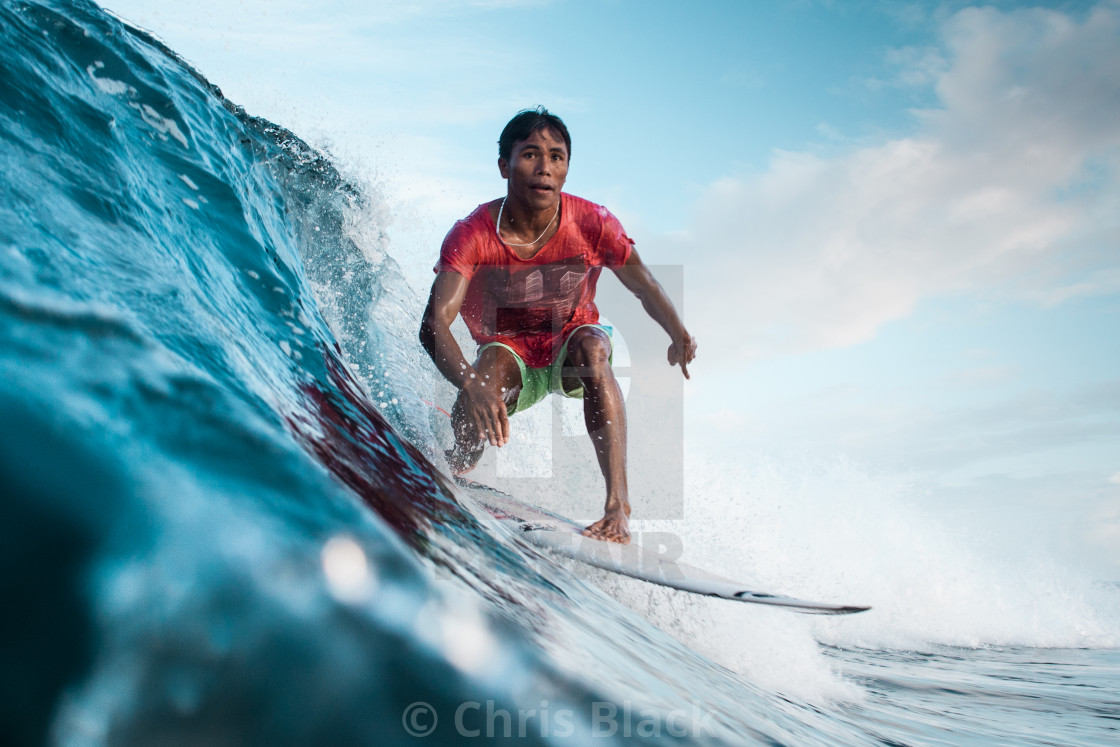 """Surfer Surfing"" stock image"