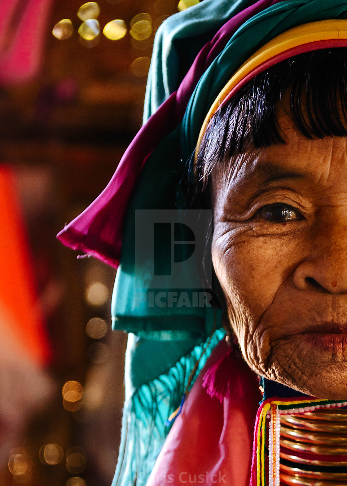 """Long-necked Burmese woman"" stock image"