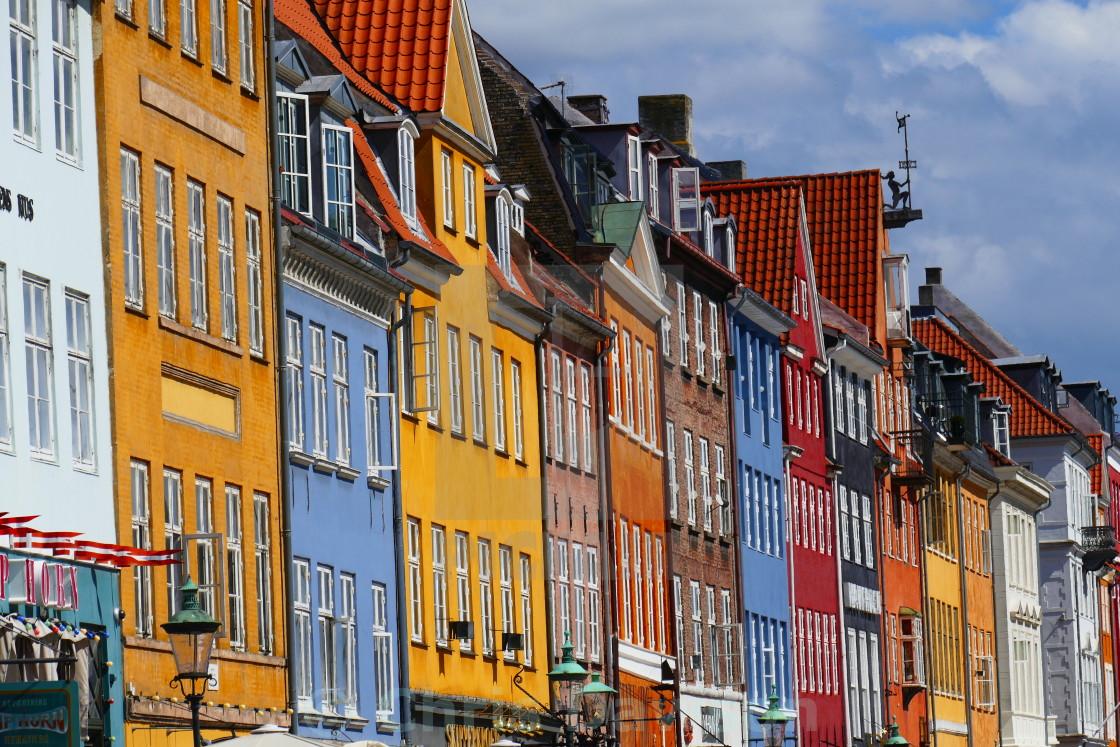 """Coloured houses in Copenhagen"" stock image"