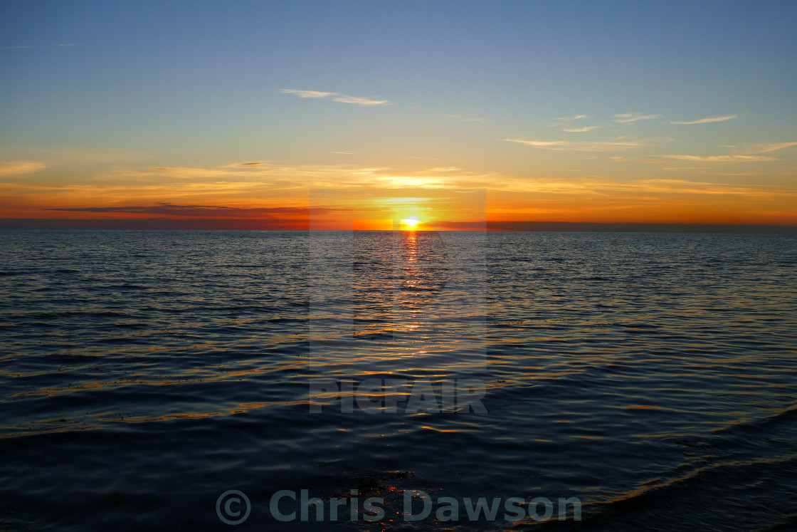 """""""Sunset over sea"""" stock image"""
