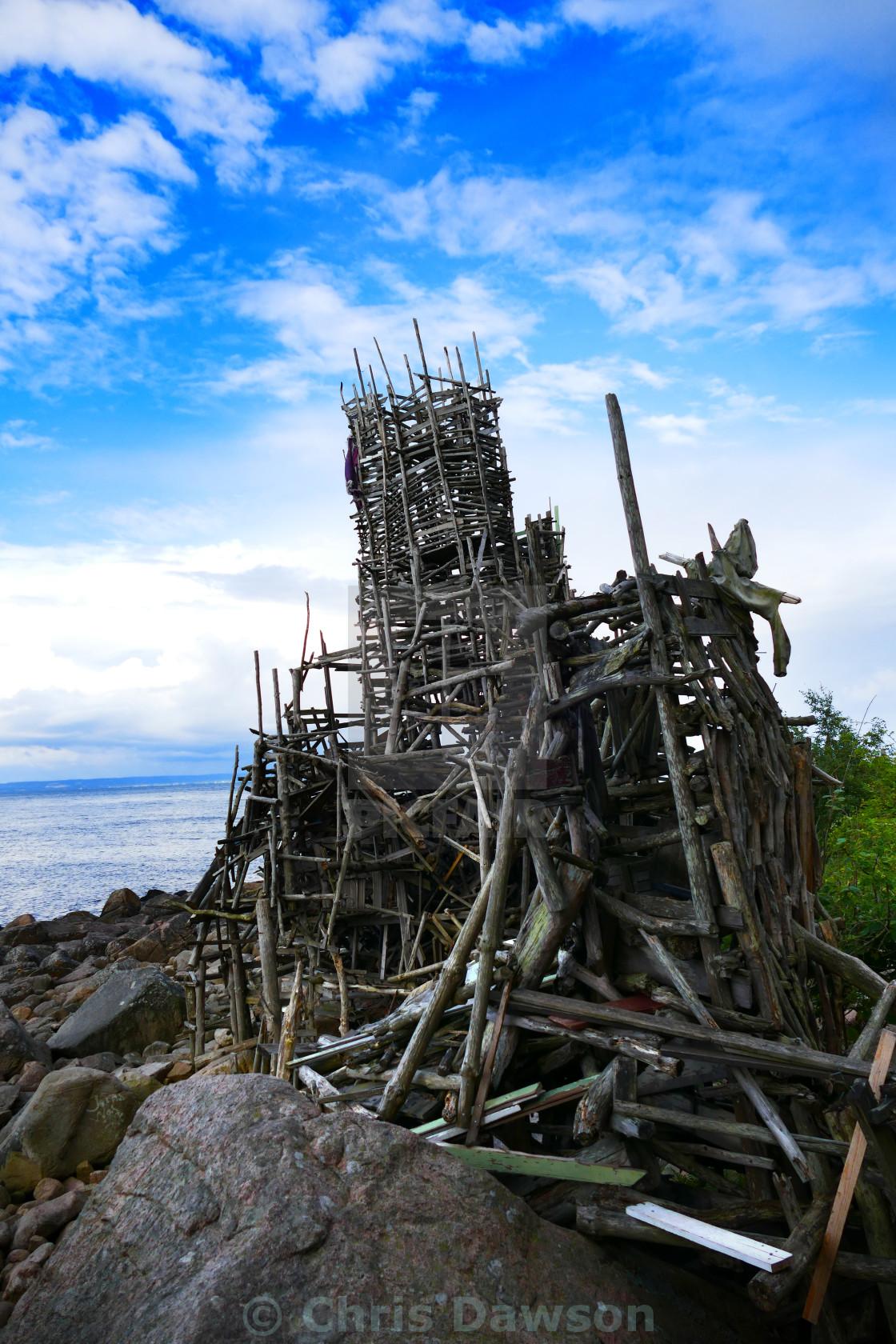 """Driftwood sculpture in Sweden"" stock image"