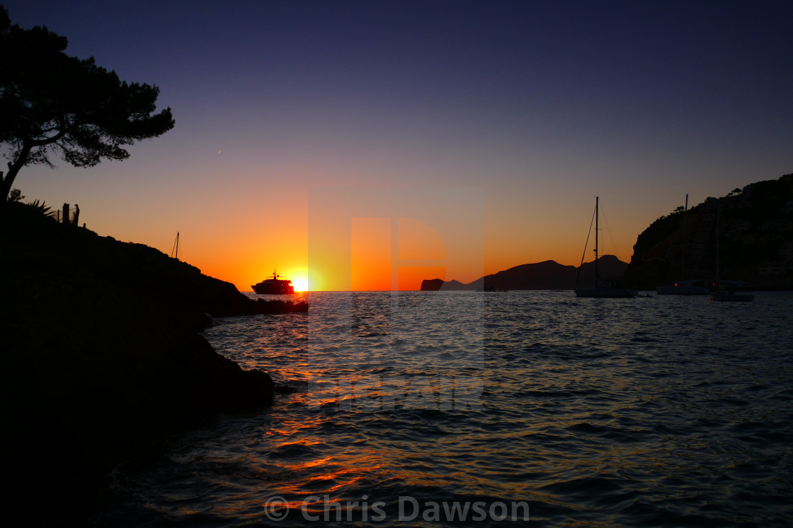 """""""Sunset in Andtrax Mallorca"""" stock image"""