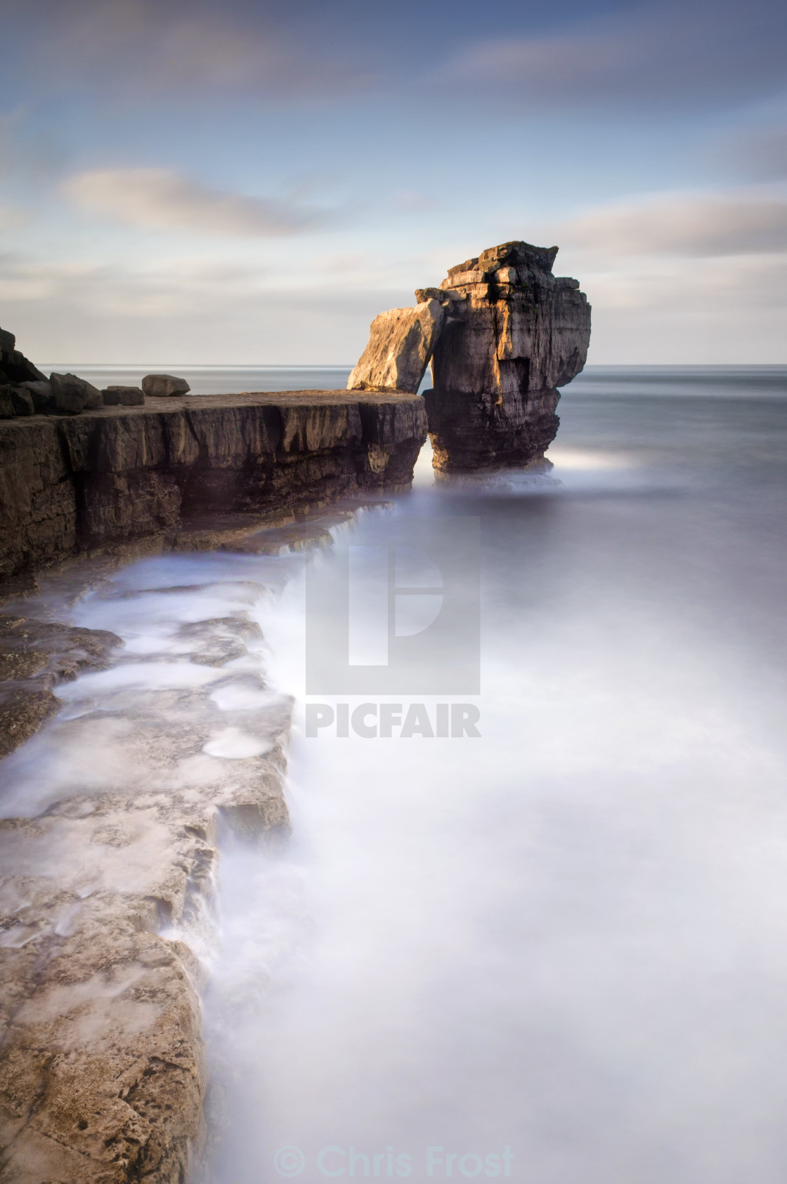 """A long time standing at Pulpit Rock"" stock image"