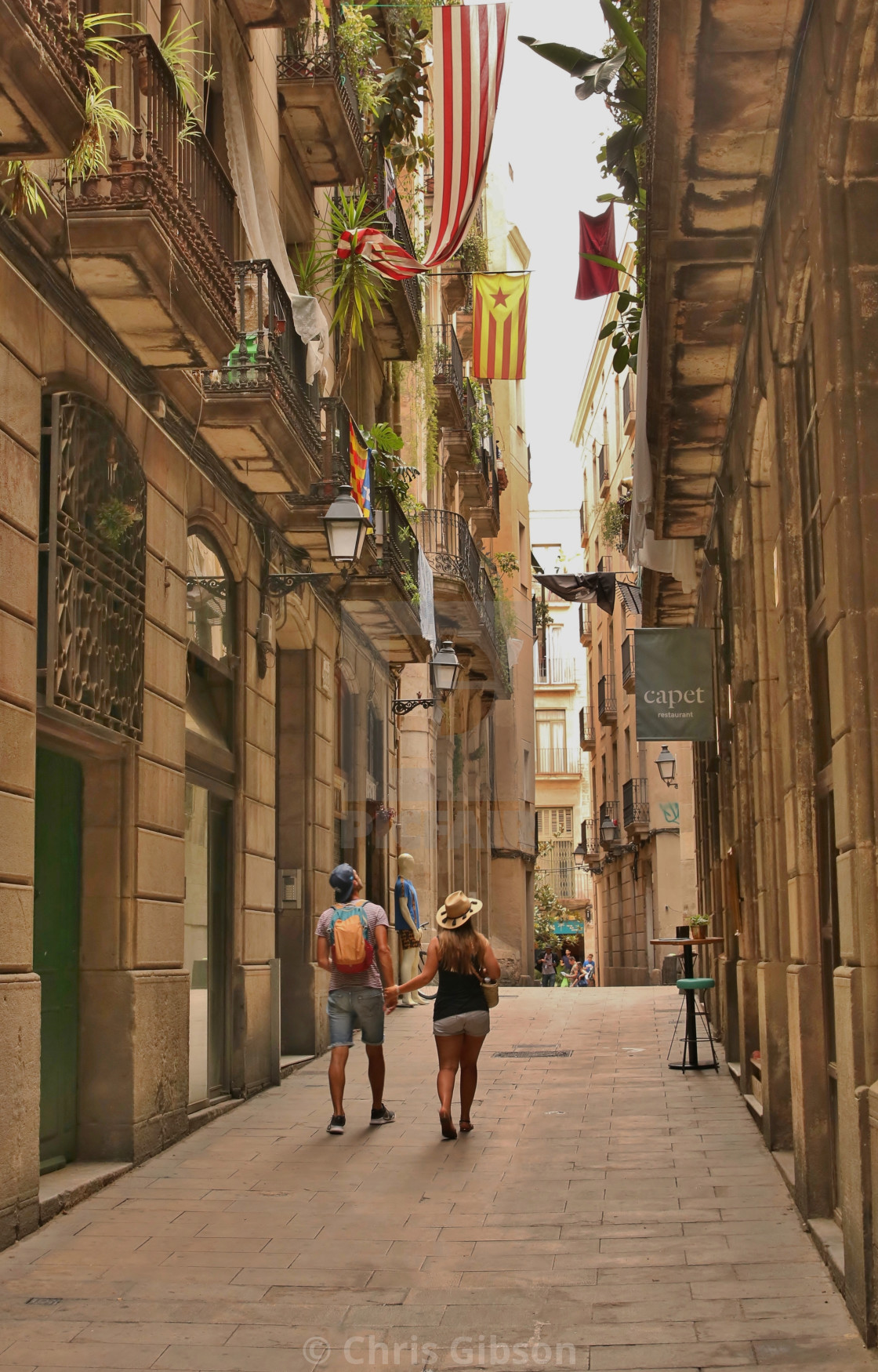 """Exploring Barcelona."" stock image"