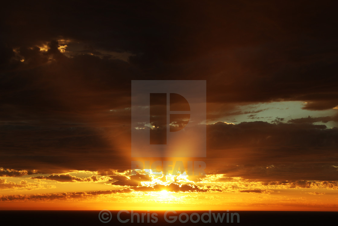 """""""Australian Sunset"""" stock image"""