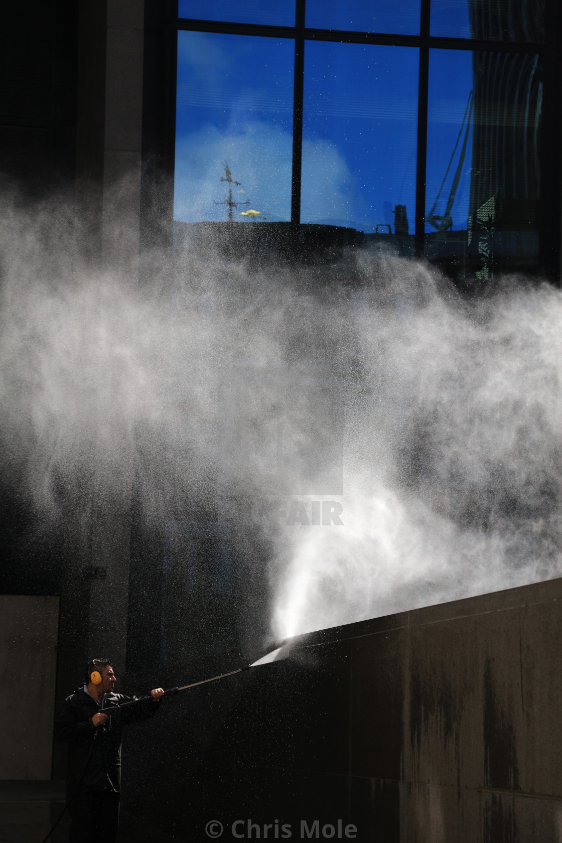 """Jetwashing in the City of London"" stock image"