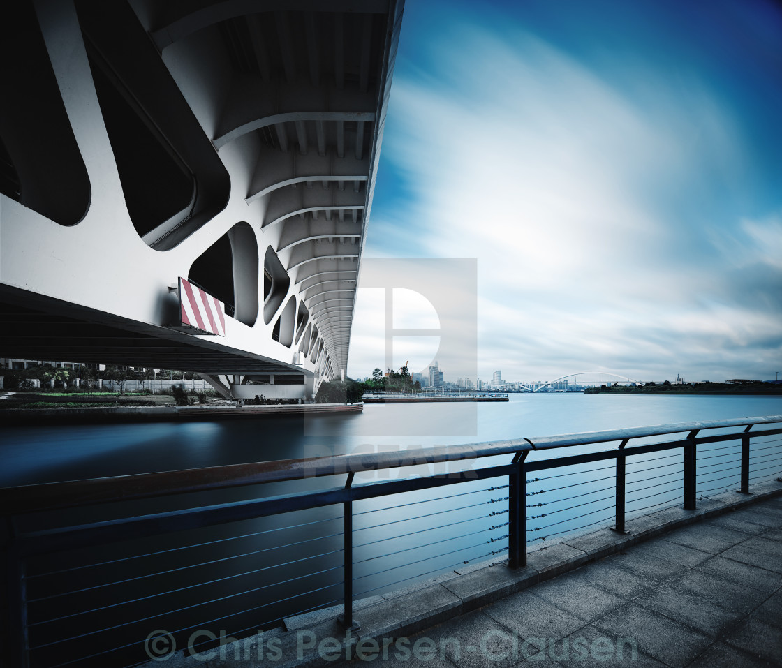 """Two bridges"" stock image"