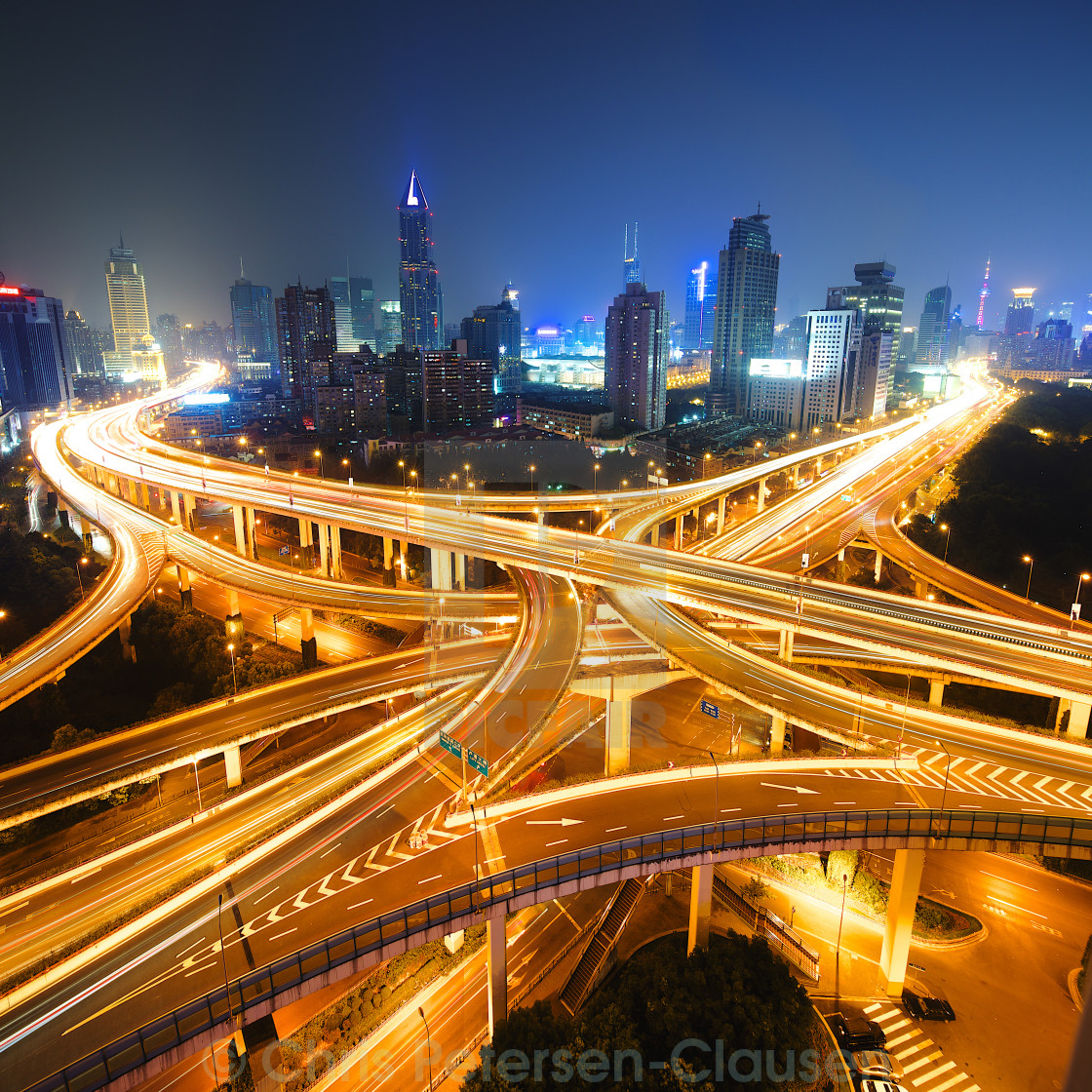 """Yan'an Middle (East) Crossing"" stock image"