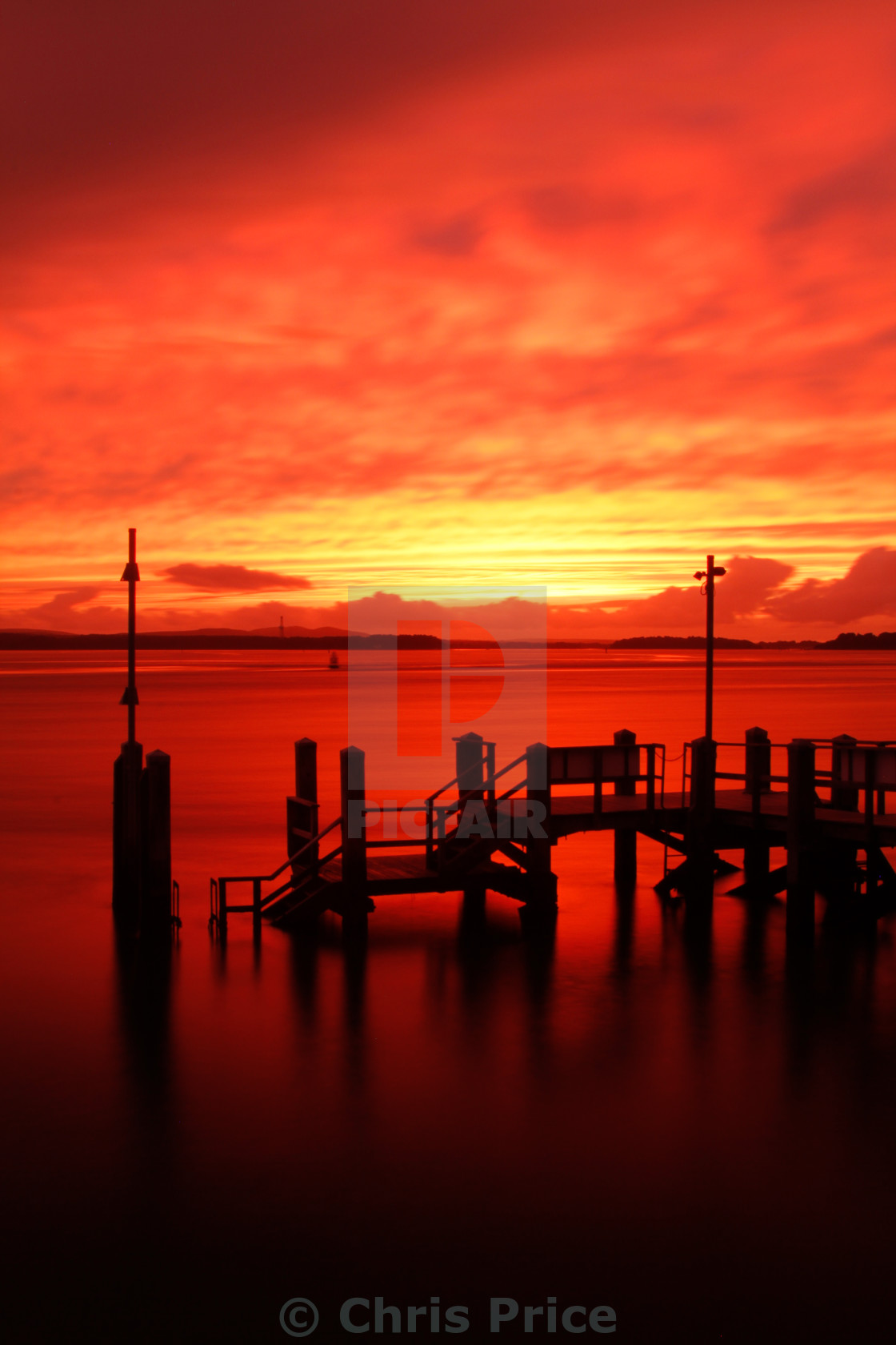 """Poole Harbour sunset"" stock image"