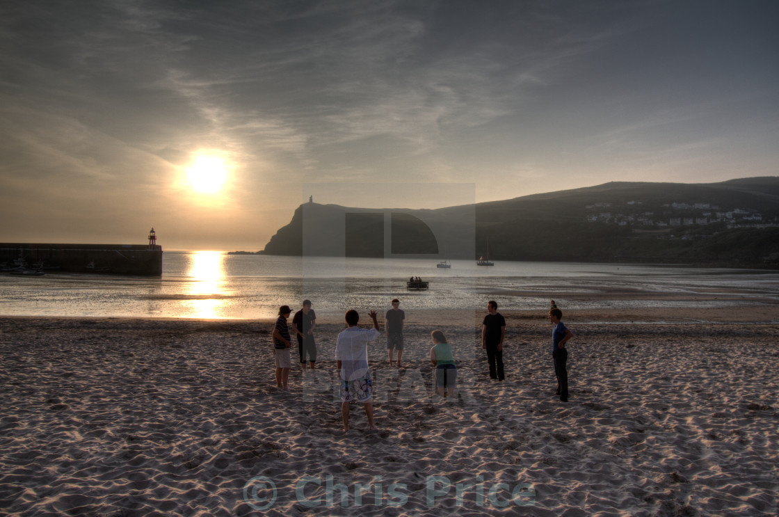 """Port Erin sunset, Isle of Man"" stock image"