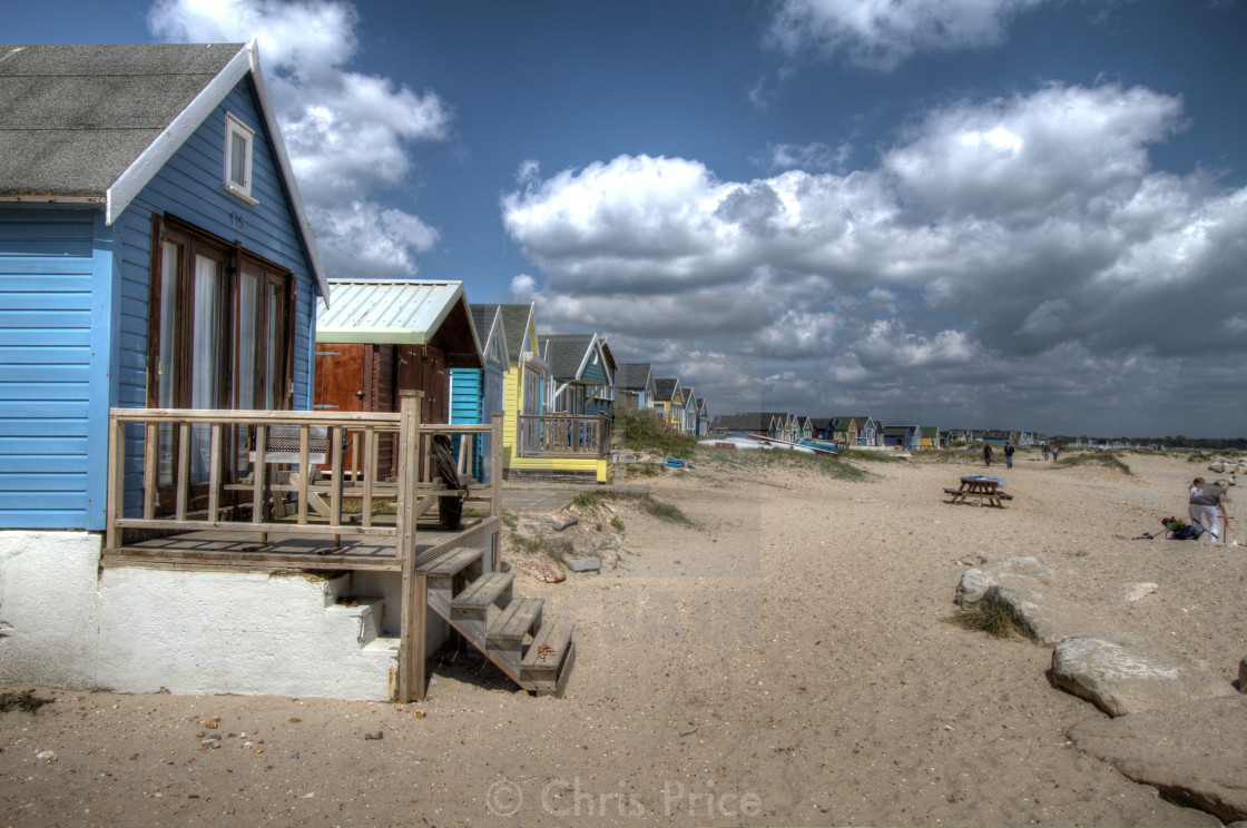 """Mudeford Spit, Hengistbury Point"" stock image"