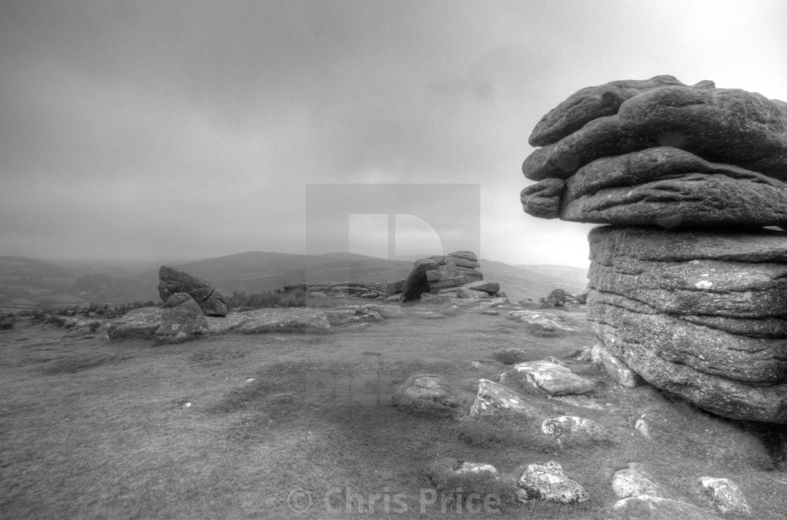 """""""Combestone Tor, Dartmoor"""" stock image"""