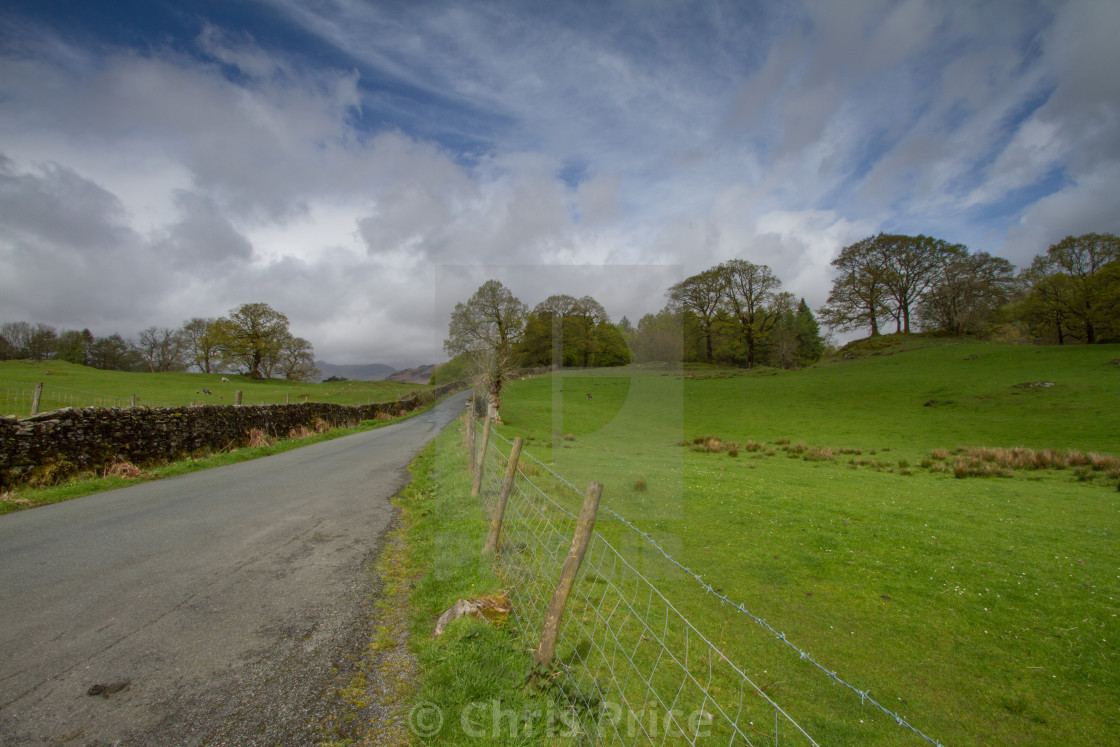 """""""Loughrigg Tarn and nearby"""" stock image"""