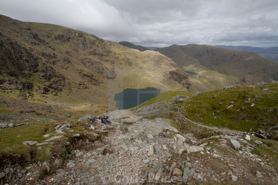 """""""The Old Man of Coniston"""" stock image"""