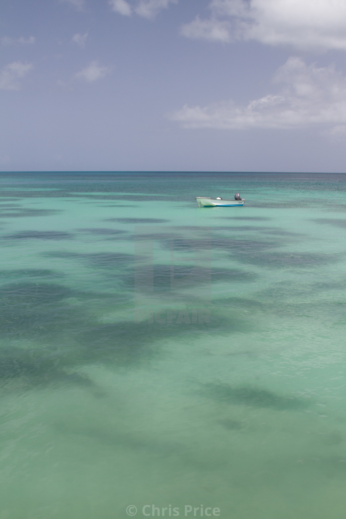 """The Carribean Sea, Antigua"" stock image"