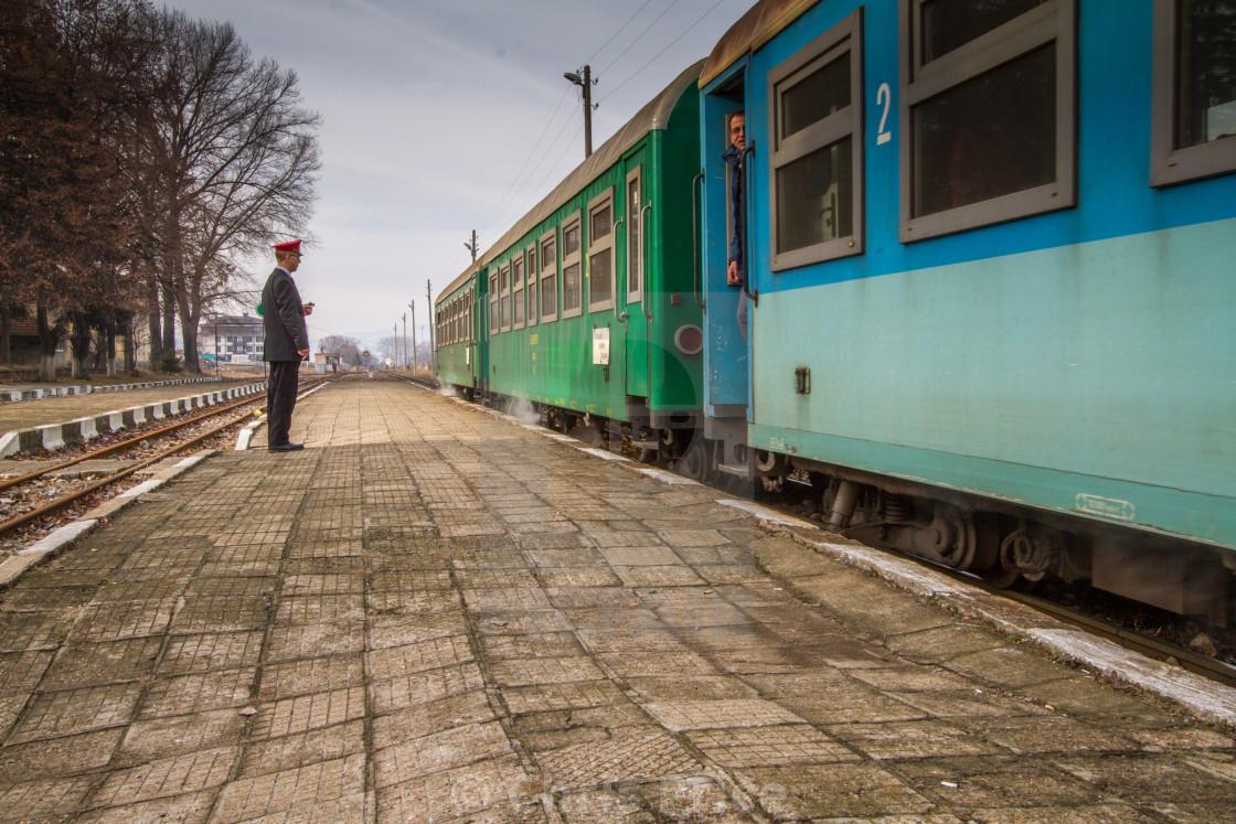 """""""Train at Bansko, Bulgaria"""" stock image"""