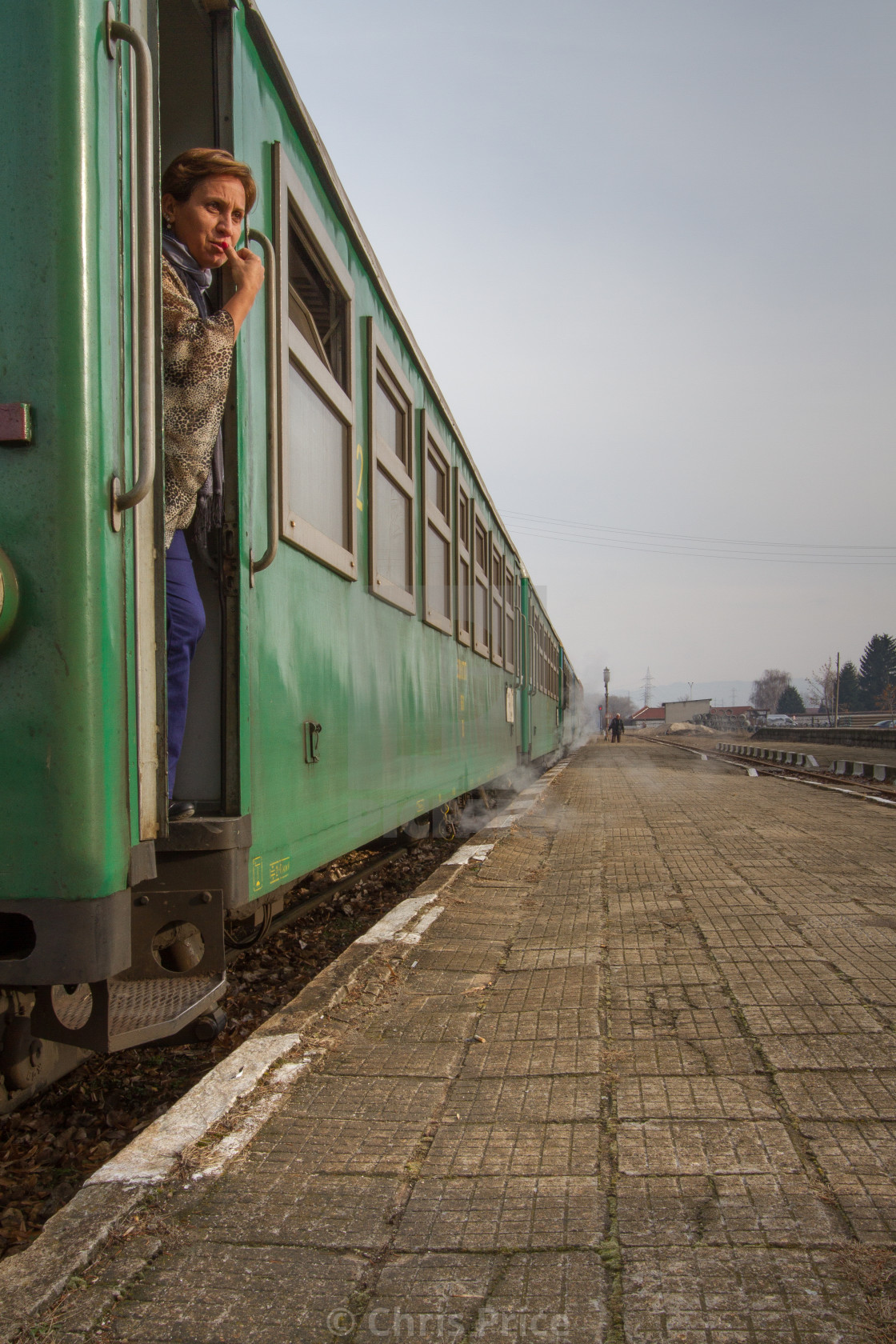 """Train at Bansko, Bulgaria"" stock image"