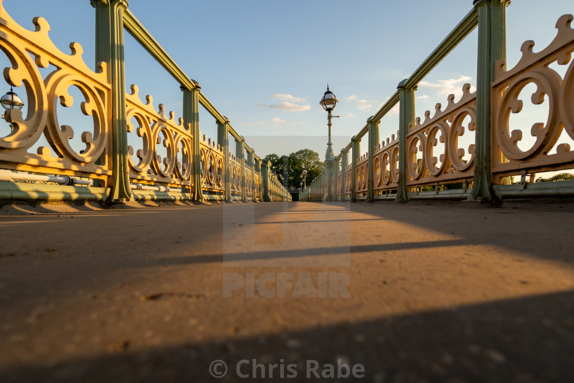"""Richmond Lock Bridge in Richmond-upon-thames, England"" stock image"