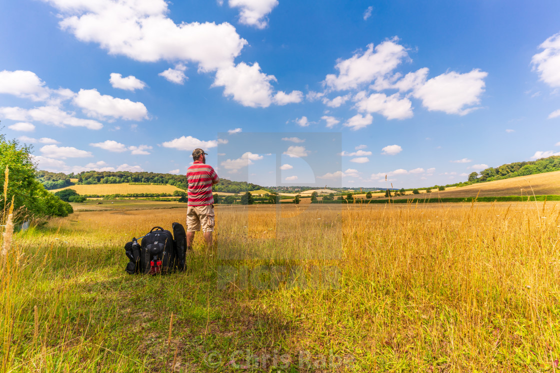 """Hiking In The Chilterns"" stock image"