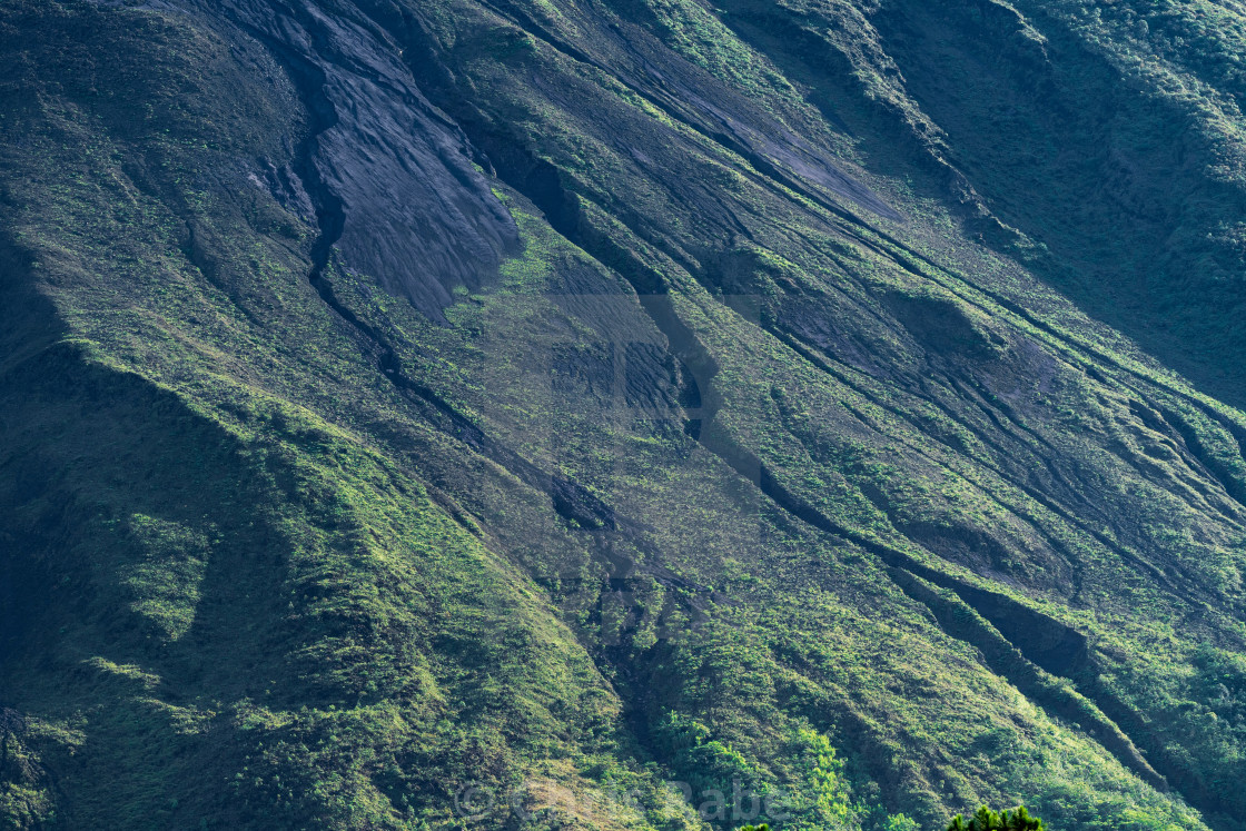 """A close view fo the side of Arenal Volcano"" stock image"