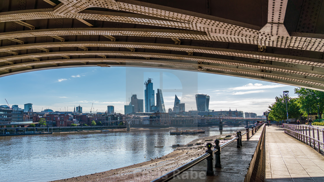 """London, England - June 15 2019 : City skyline on a bright day viewed from..."" stock image"