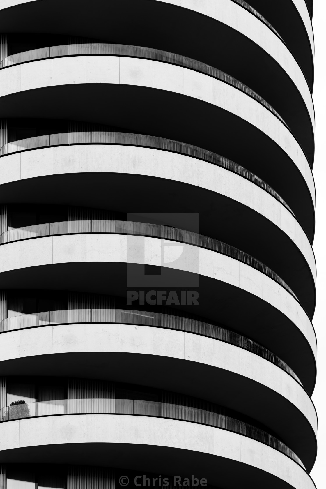 """Abstract architectural exterior of a London City building"" stock image"