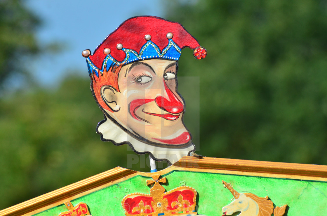 """Punch and Judy Sign."" stock image"