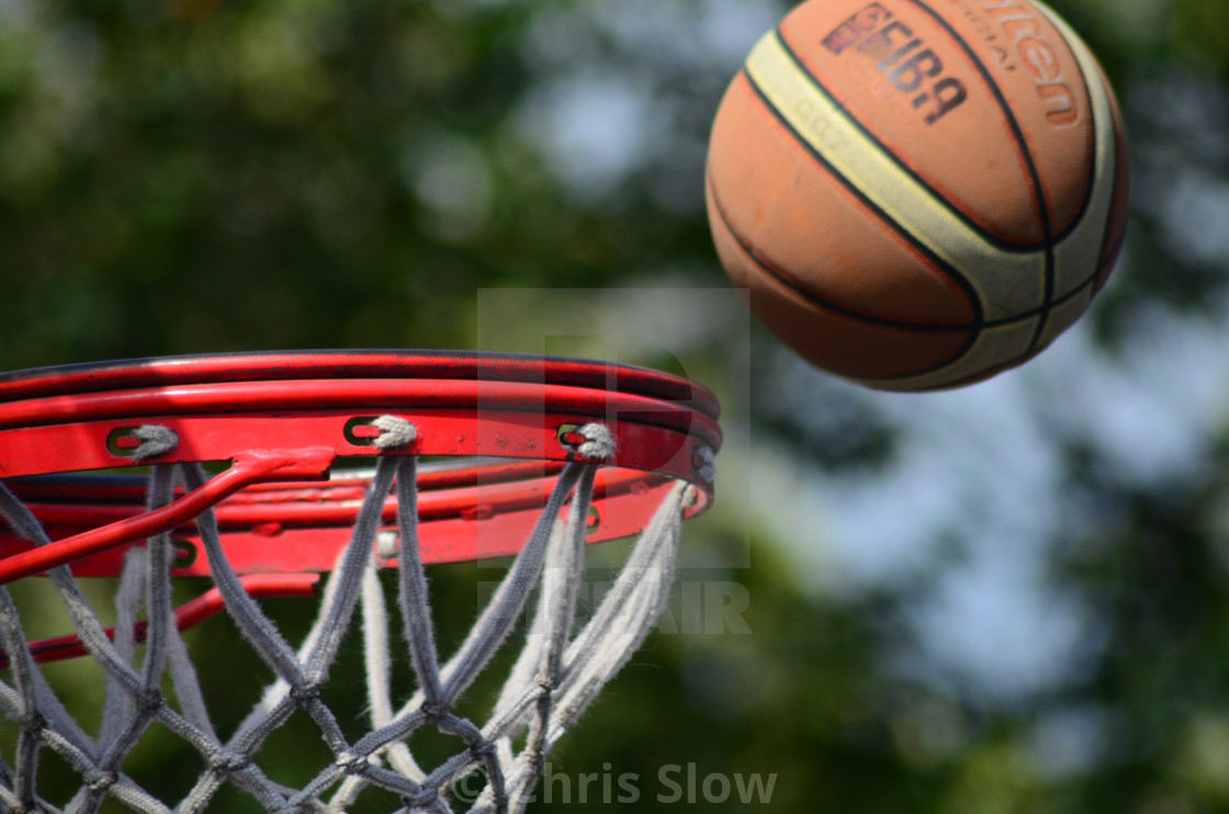 """Basket And Ball"" stock image"