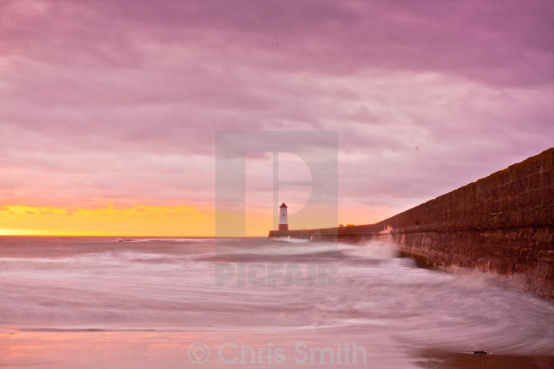 """""""Berwick Lighthouse Sunrise"""" stock image"""