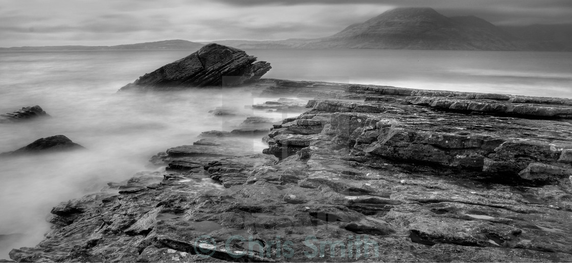 """Elgol Rocks - Isle of Skye - Scotland"" stock image"