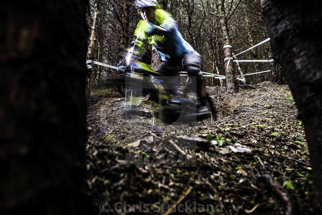 """Mountain Biking, Tweedlove Shimano International Enduro, UK"" stock image"