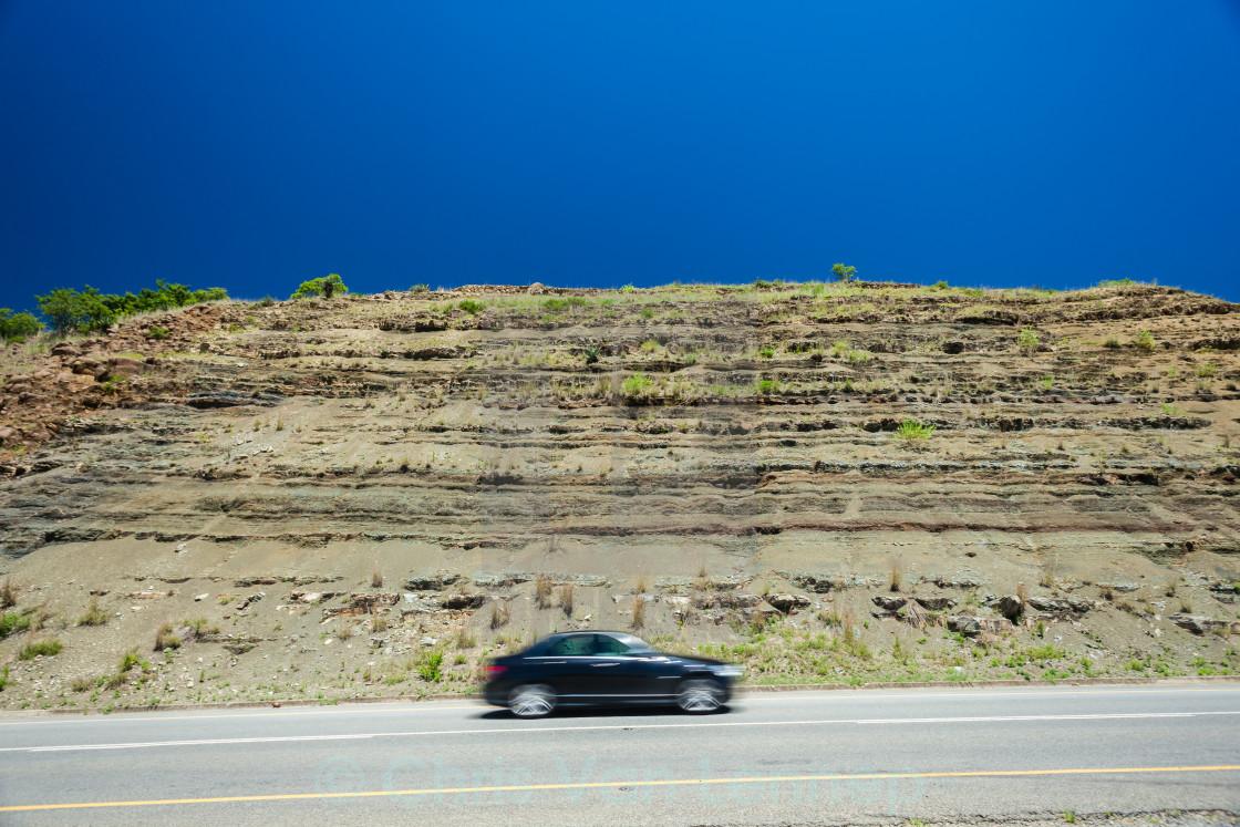 """Car Speed Blur Blue Travel"" stock image"