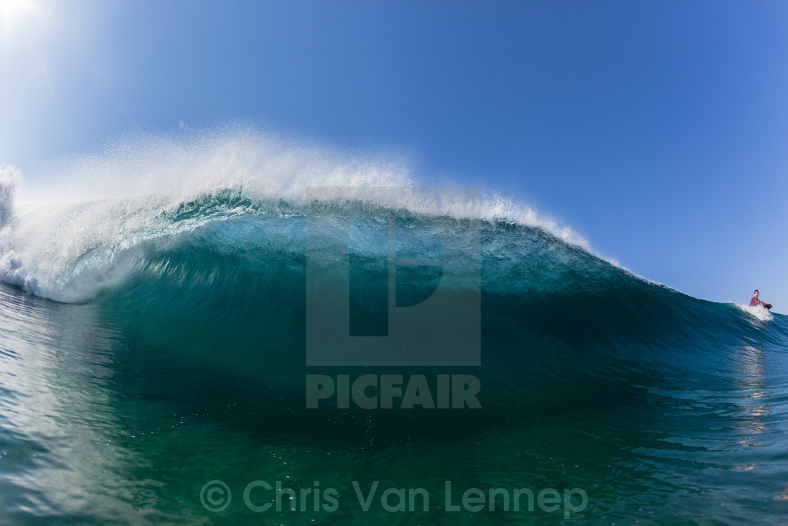 """Crashing Wave Hollow Swimming Blue"" stock image"