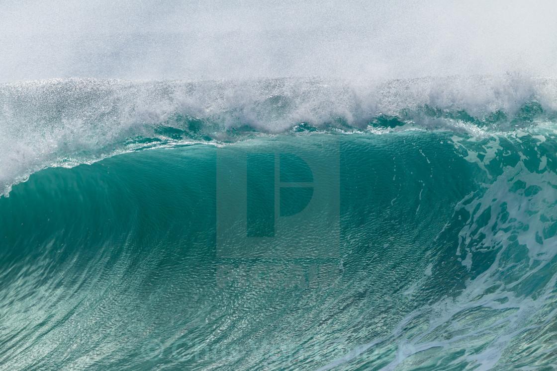 """Wave Closeup Crashing Power"" stock image"