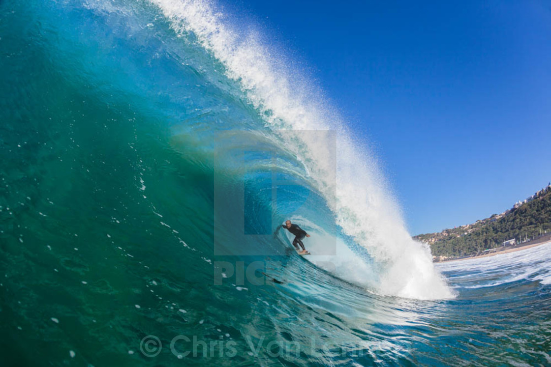 """Surfer Inside Wave"" stock image"