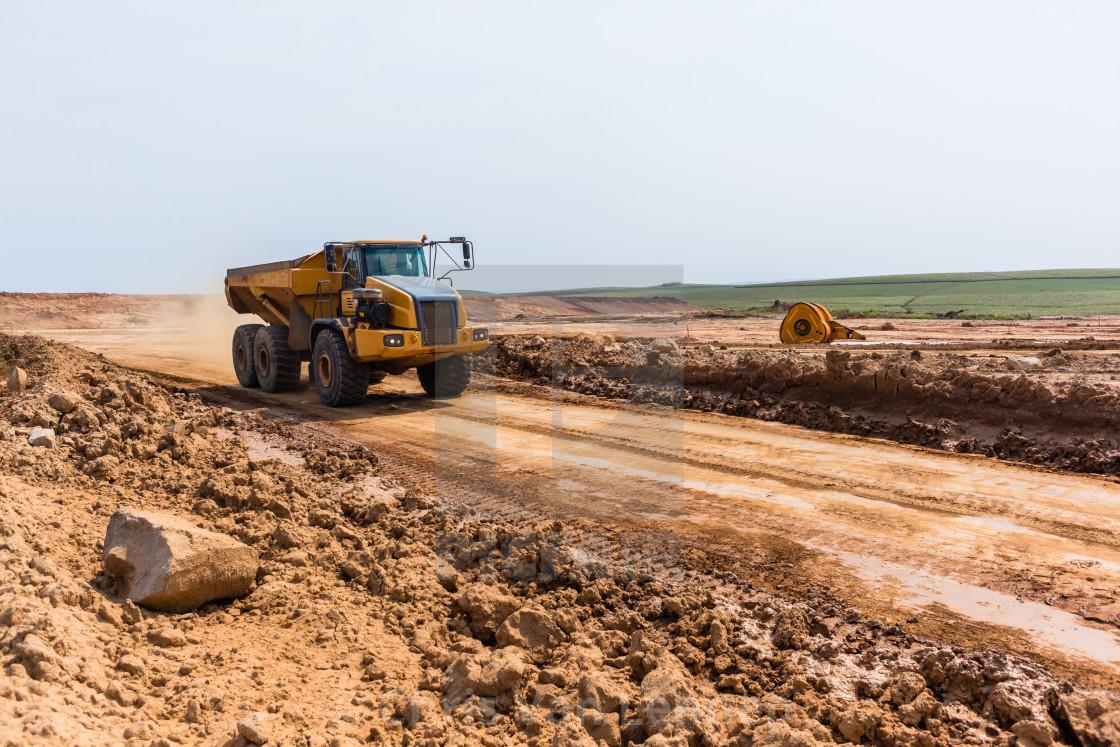 """Truck Earthworks Industrial Property Development"" stock image"