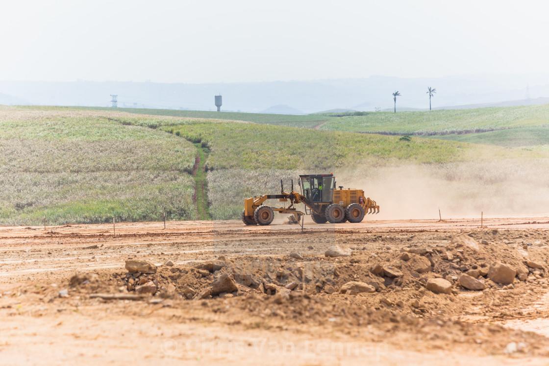 """Industrial Grader Machine Earthworks Property Development"" stock image"
