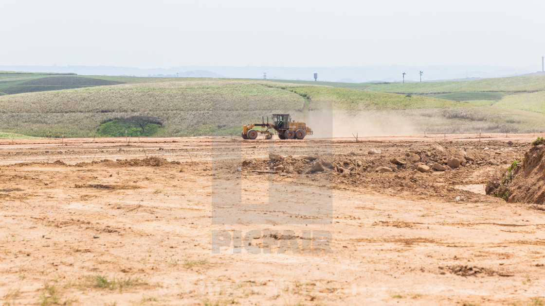 """Industrial Grader Machine Earthworks Property Development"" stock image"