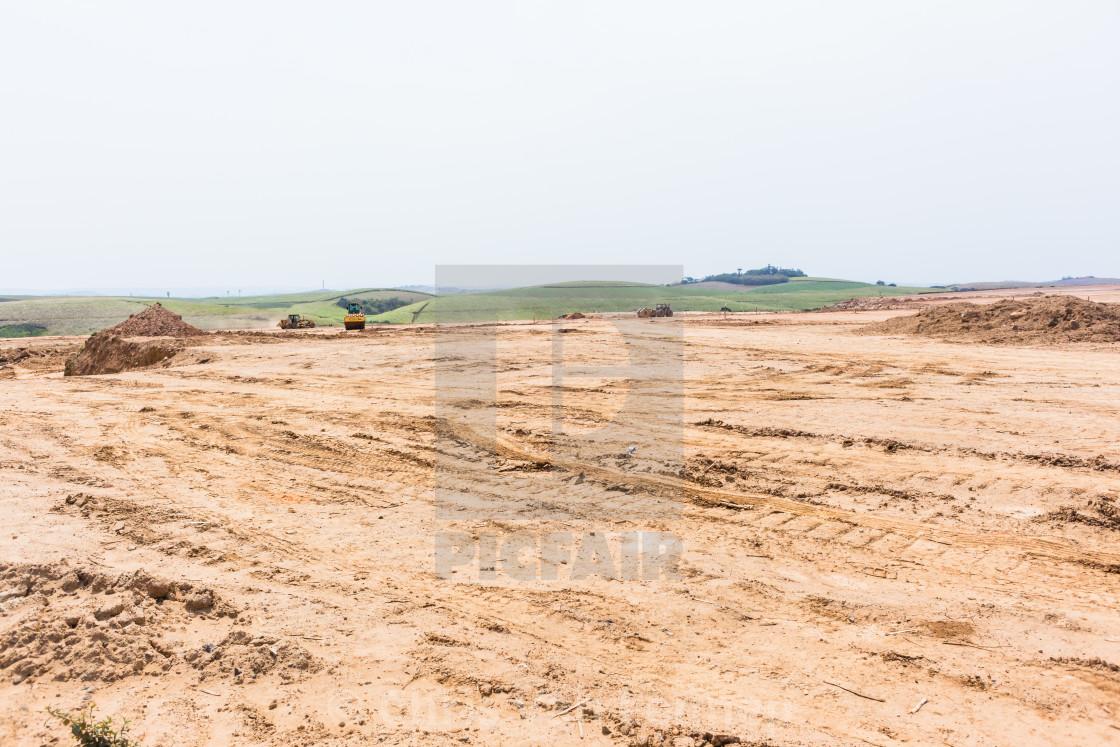 """Industrial Earthworks Platform Property Development"" stock image"