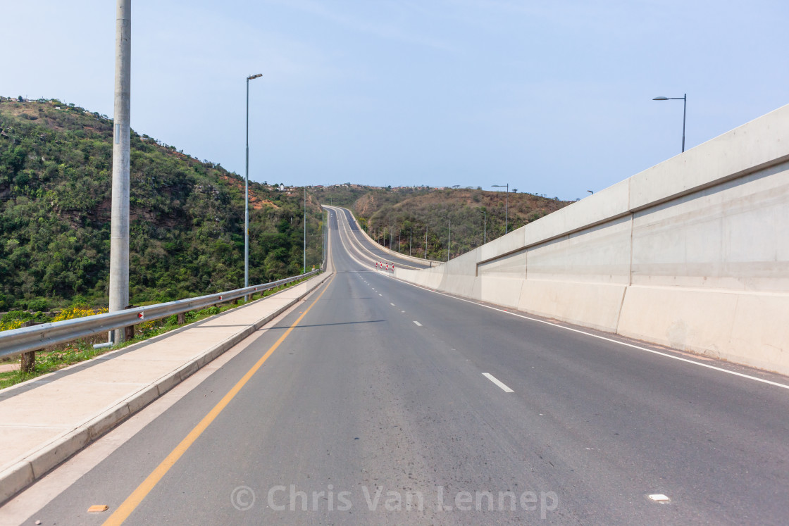 """Road Highway Driving Valley Bridge"" stock image"