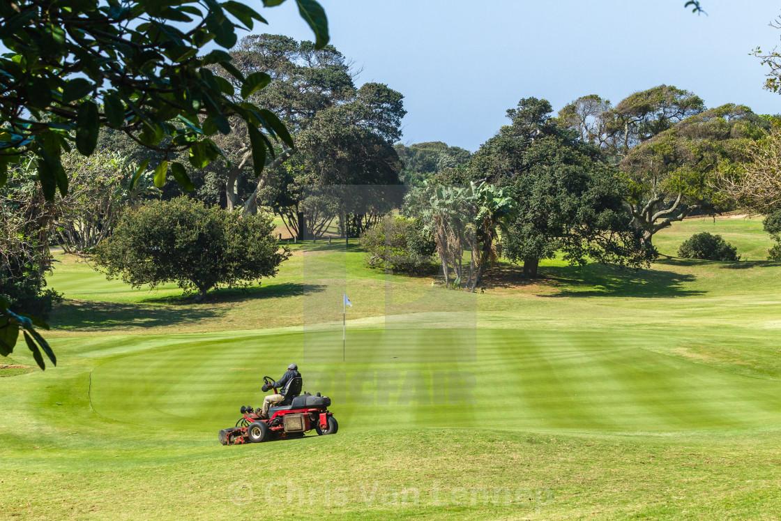 """""""Golf Course Par 5 Hole"""" stock image"""